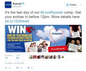 San Valentino Ryanair