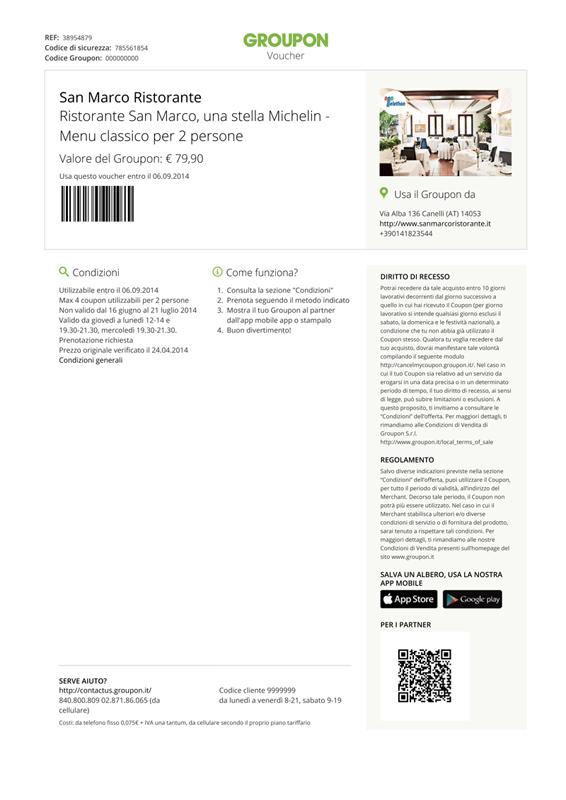 Nuovo design dei coupon – Groupon Merchant IT